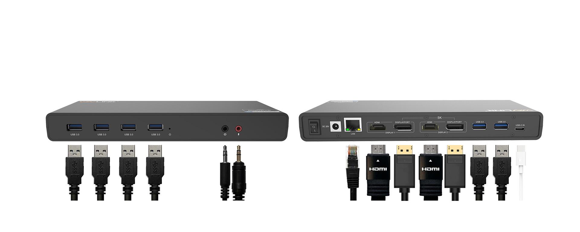 WAVLINK USB UNIVERSAL DOCKING STATION USB-C IN DUAL 4K UG69DK1 5 7