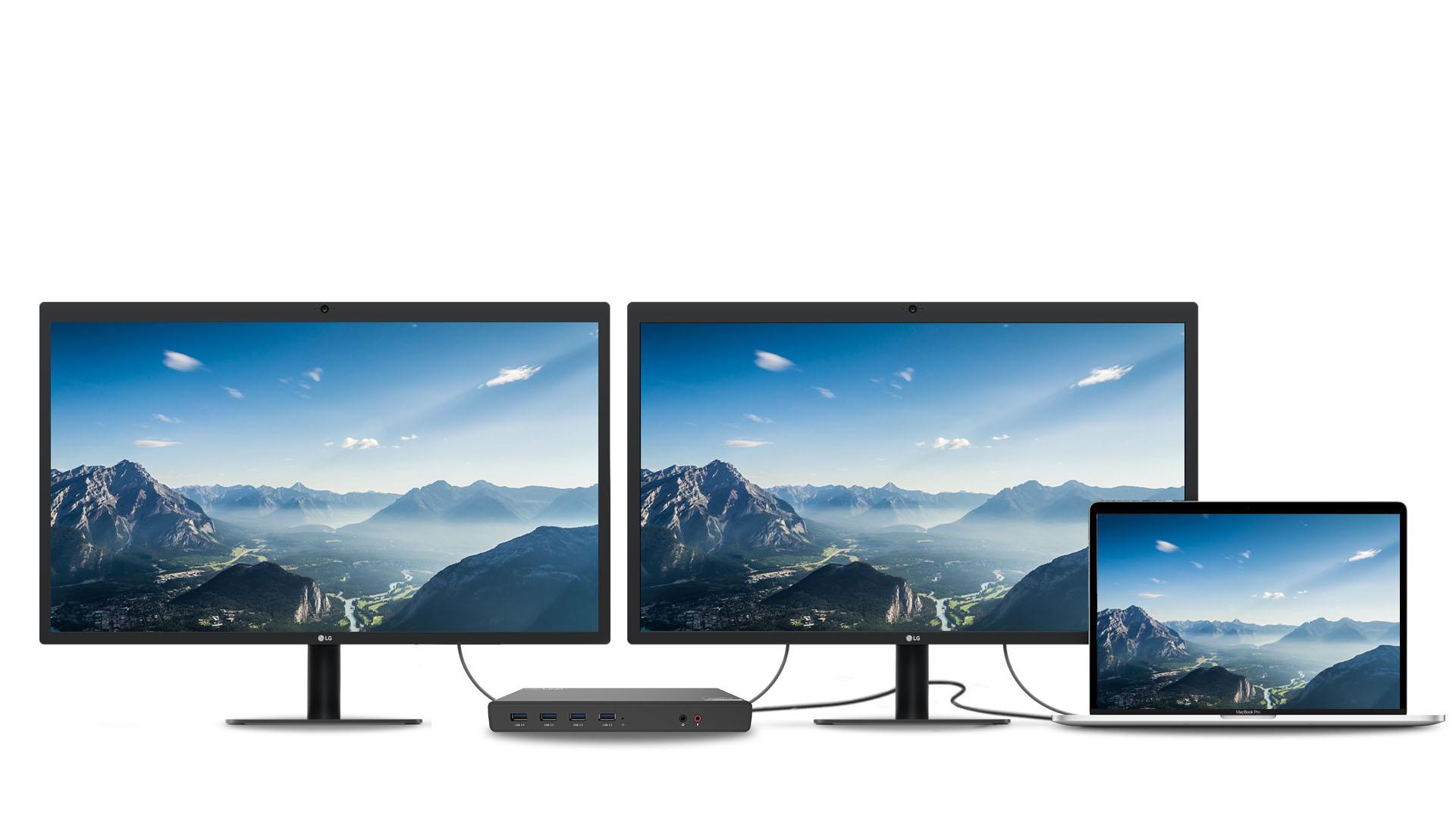 支持同时扩展两台显示器