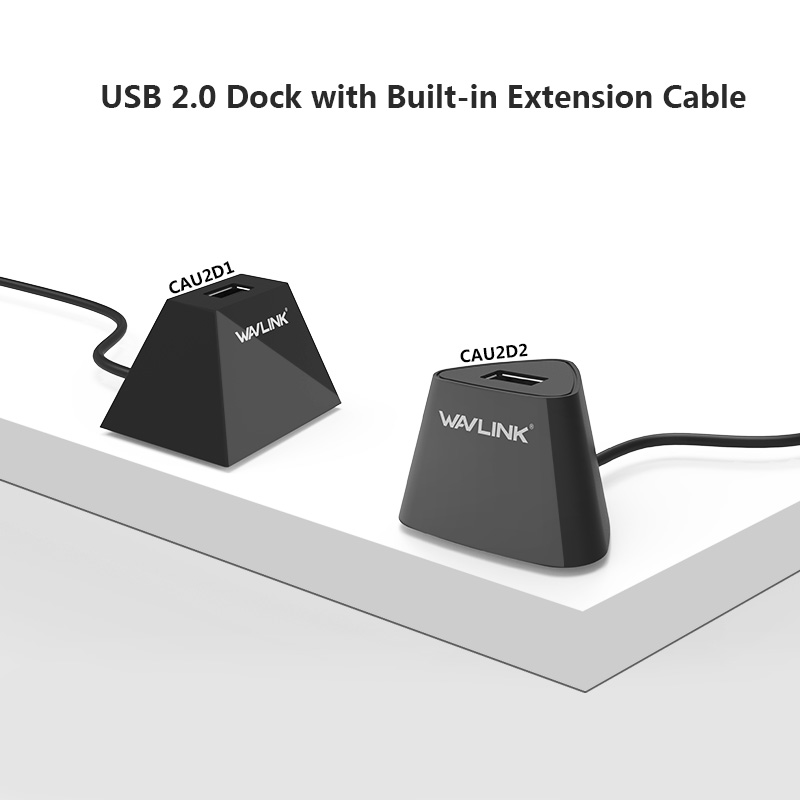 CAU2D1 / WL-CAU2D2 USB 2.0 Dock with Built-in Extension Cable