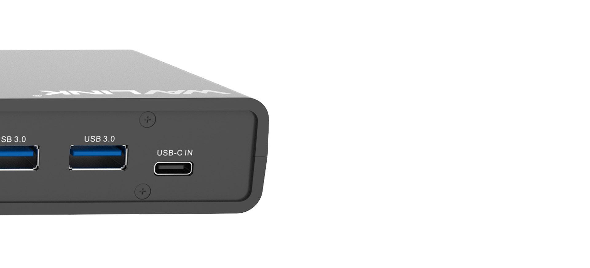 WAVLINK USB UNIVERSAL DOCKING STATION USB-C IN DUAL 4K UG69DK1 6 8