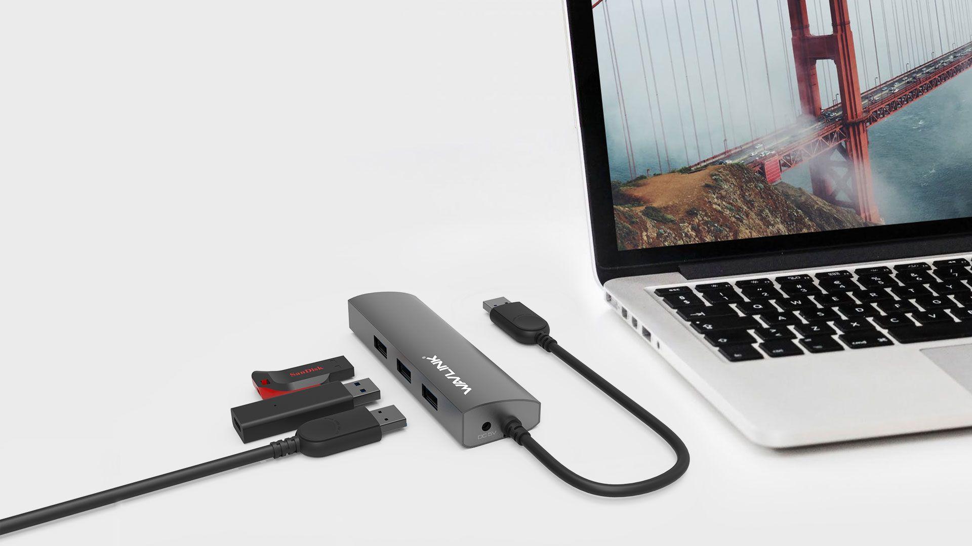 WAVLINK USB 3.0 4-PORT HUB WITH GIGABIT ETHERNET 6 9