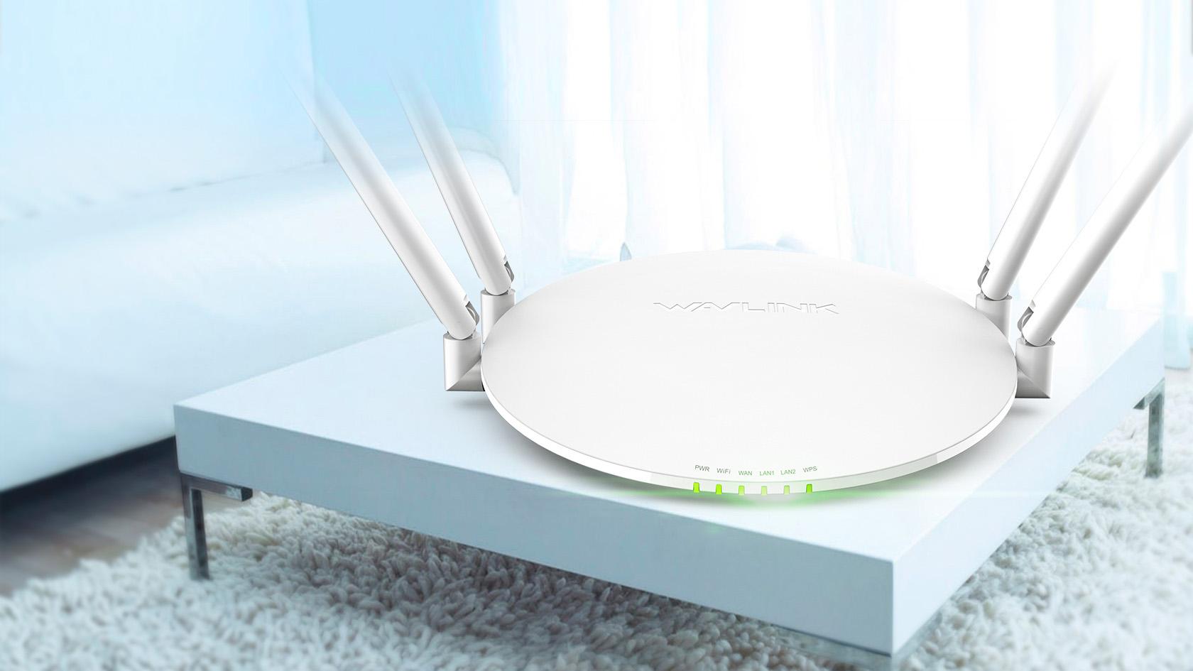 睿因S32双频1200Mbps无线智能路由器,碟式设计,居家百搭