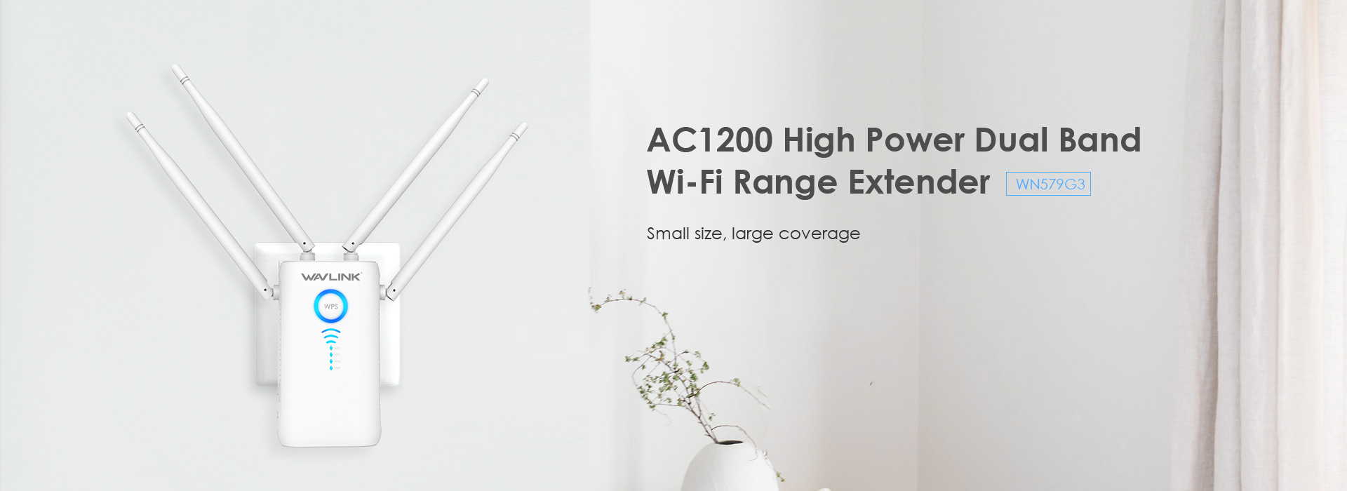 AERIAL AC1200 Dual-band Wireless  AP/Range Extender/Router with Dual Giga  LAN and High Power Antennas