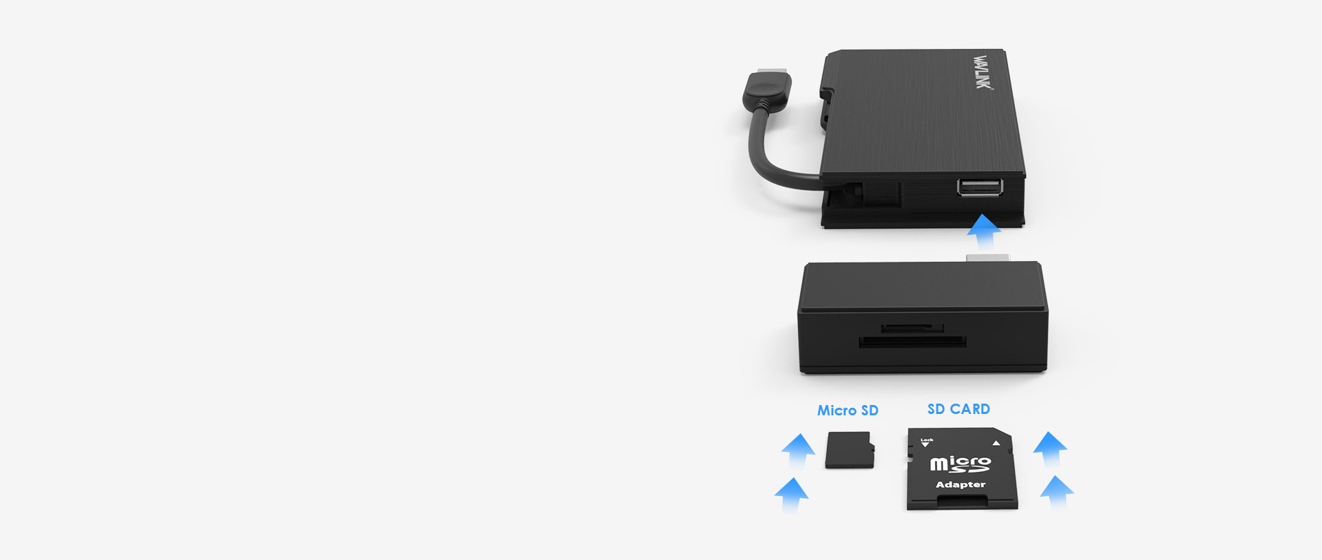 WAVLINK USB3.0 FULL HD TRAVEL MINI DOCK 6 9