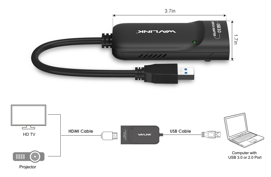 UG3501H USB 3 0 to HDMI Video Graphic Adapter - Wavlink