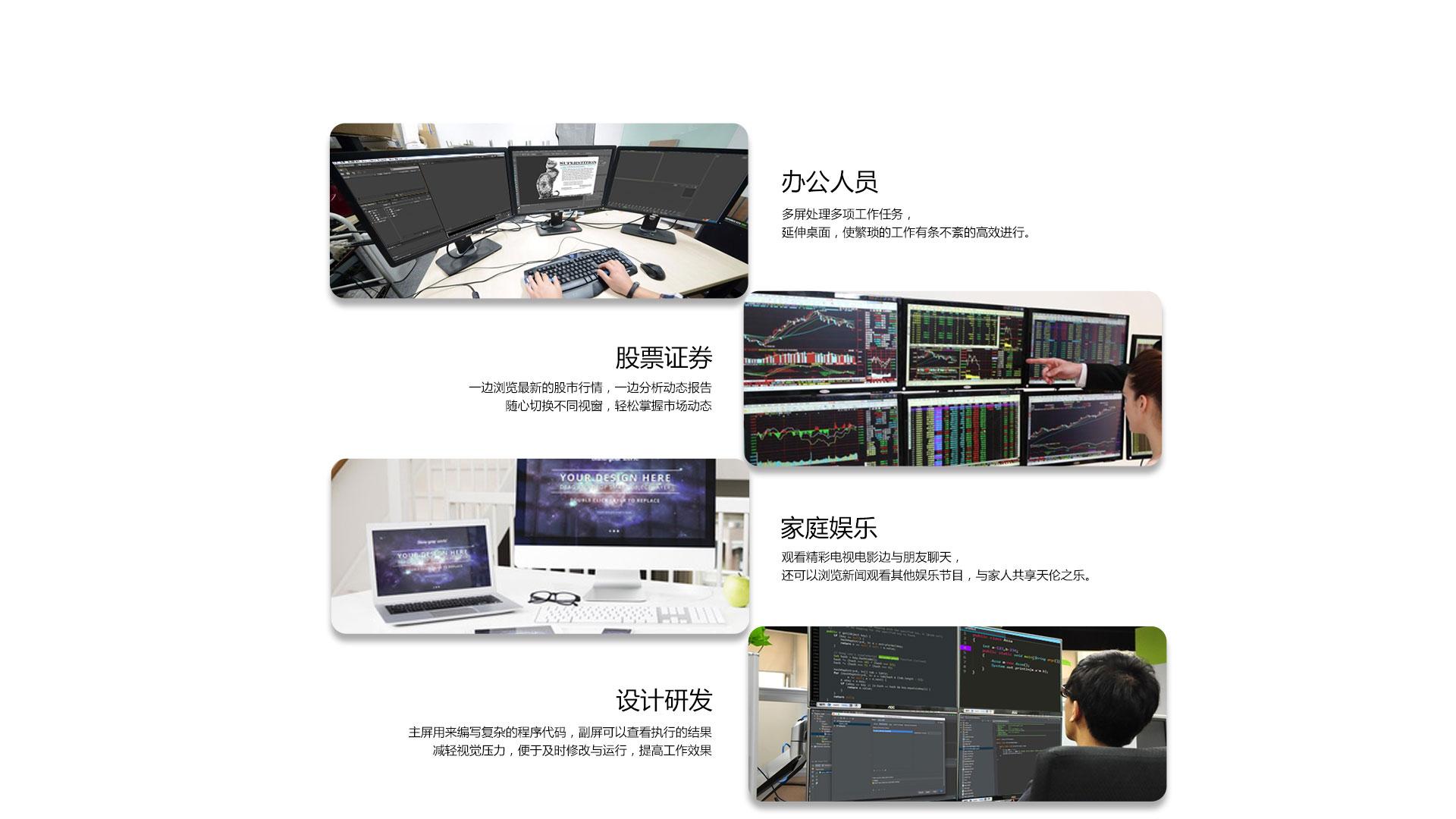 适用于视频编辑、股票证券、研发设计、办公等人员